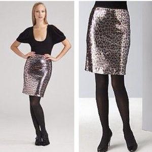 NANETTE LEPORE leopard print Sequin Pencil skirt